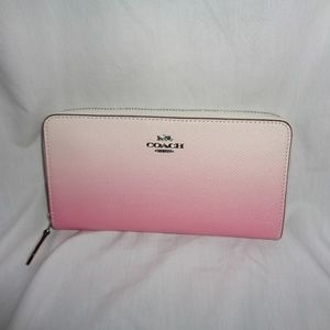 COACH F68295 OMBRE LEATHER ZIP CLUTCH WALLET